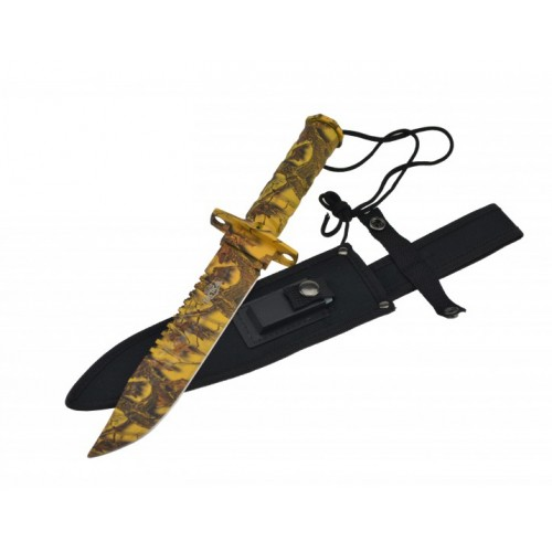 "14.5"" SURVIVAL KNIFE WITH NYLON SHEATH"